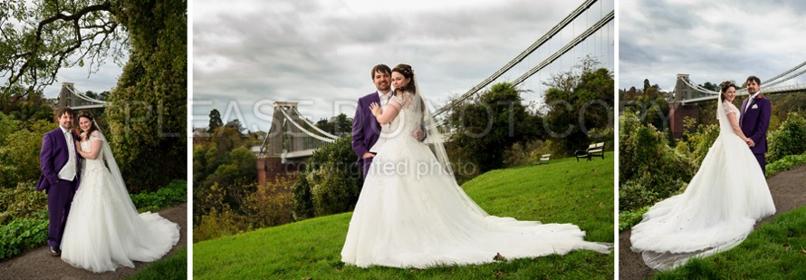 012 bride groom at the clifton suspension bridge